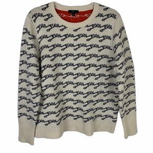 J. Crew Yes No Colorblock Sweater Pullover XL